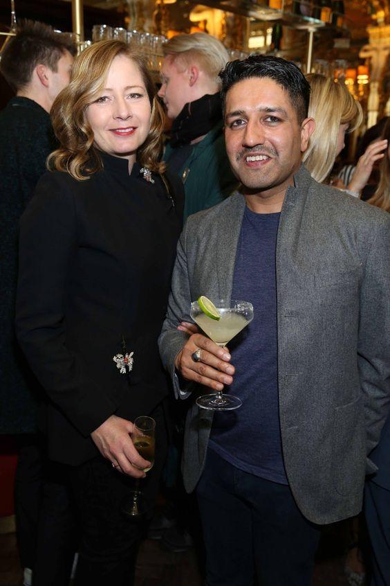 Sarah Mower and Osman Yousefzada.