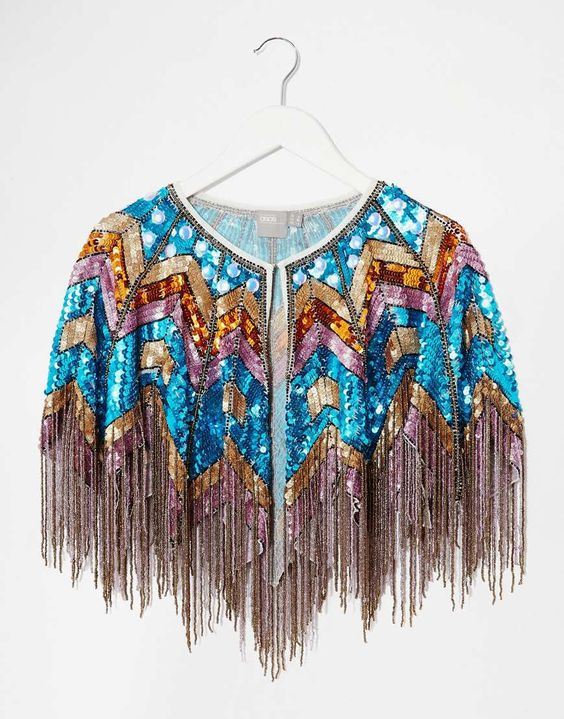 Image 3 of ASOS Multi Colour Sequin Cape