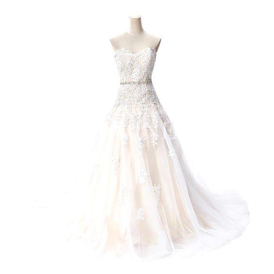 Vestido de casamento do laço do marfim Sweethrat capela trem vestidos de casamento romântico vestido de noiva vestido de casamento vestido de mariage em Vestidos de noiva de Casamentos e Eventos no AliExpress.com | Alibaba Group