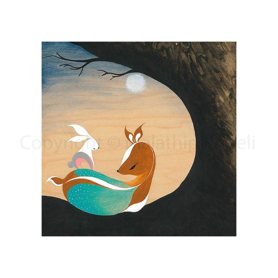 Everything Will Be OK  art print by malathip on Etsy, $20.00
