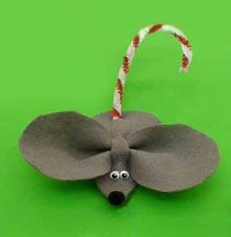 Candy cane mouse.  Cute and Christmassy!