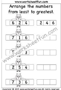 Least to Greatest - 4 Worksheets | Math Worksheets ...
