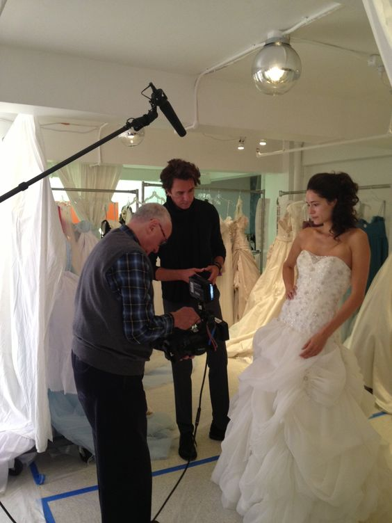 Back stage at the #AlfredAngelo October 2012 runway show! Our head designer, Michael Shettel, prepares for an interview.