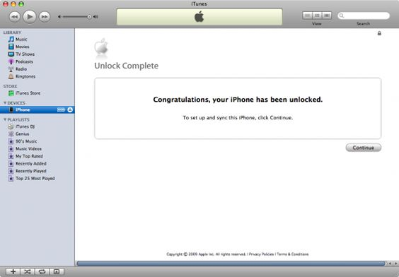 Desbloqueio Oficial iPhone Via iTunes