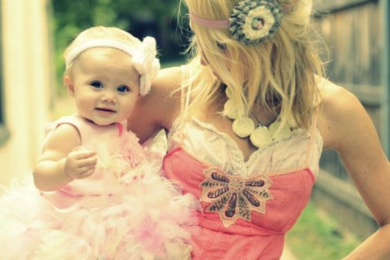 My baby and I will wear cute matching headbands! And both outfits are to die for!