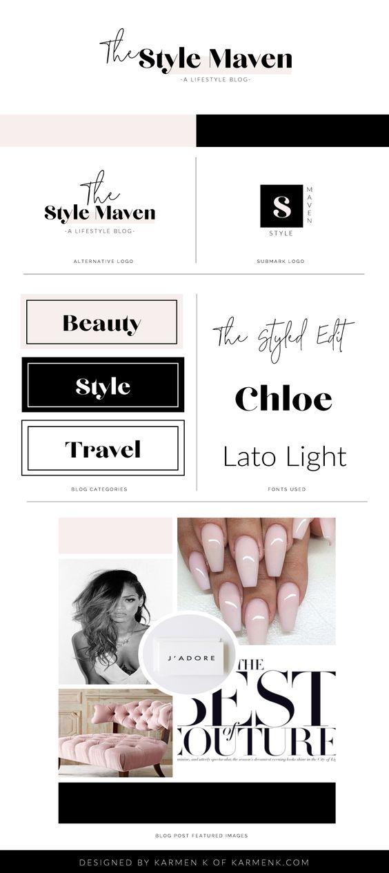 The Style Maven Logo Design Kit for Women Entrepreneurs | Logo Sample | Logo Design Kit | Make Your Own Logo | Design Your Own Logo | Logo Creator | Blog Logo Design | Cheap Logos