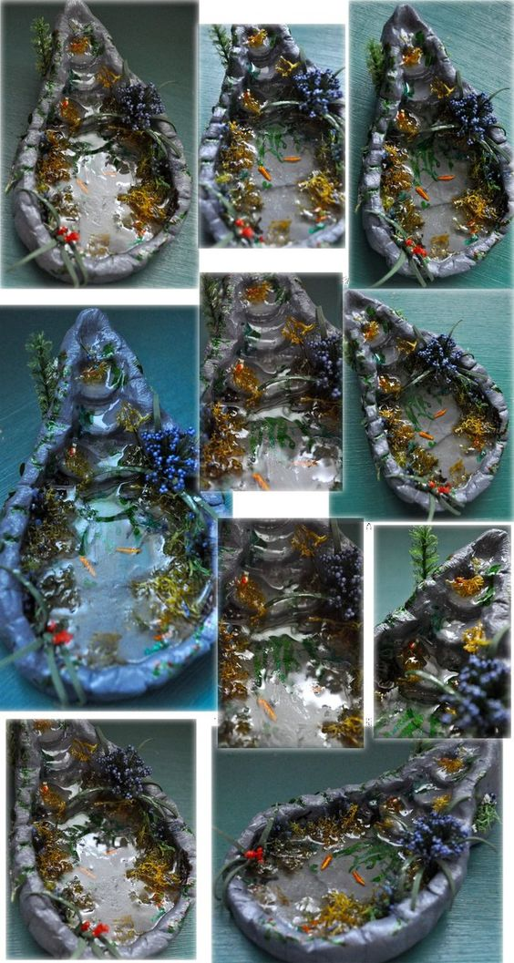 OOAK Miniature Pond with Waterfall by Forestina-Fotos