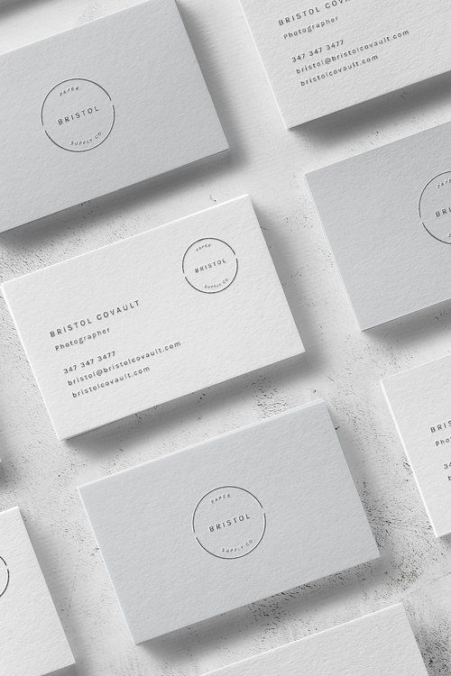 Bristol Business Card Template Graphic Design Business Card Business Card Design Minimal Business Cards Layout