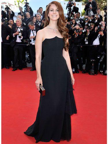 Lana del Rey let her honey-brown locks cascade down her shoulders for the 2012 Cannes Film Festival red carpet.