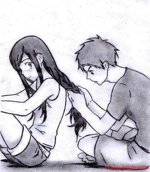 dibujos de enamorados abrazados a lapiz faciles - Buscar