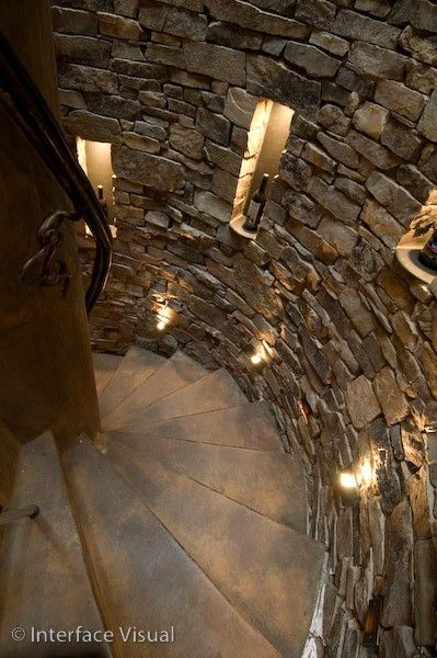 *Staircase to wine cellar. I like these stairs: