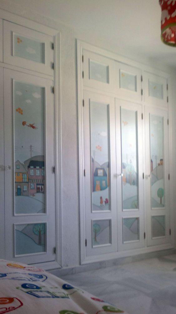 puertas de armario pintadas a mano decoraci n armarios
