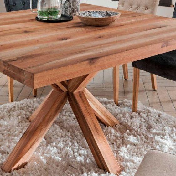 Esstisch Star 17 Cm Quadratisch In Eiche Massiv Welches Ol Fur Kuchentisch Pdf In 2020 Home Decor Decor Furniture
