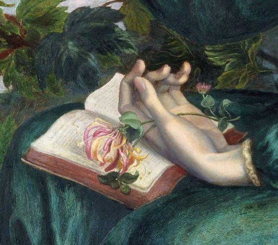 .:. Detail from The Day Dream, Dante Gabriel Rossetti, 1880