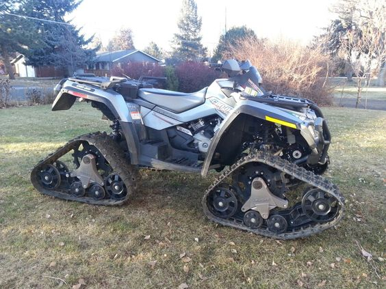 2008 Can Am Outlander Max 800 with Apache snow tracks