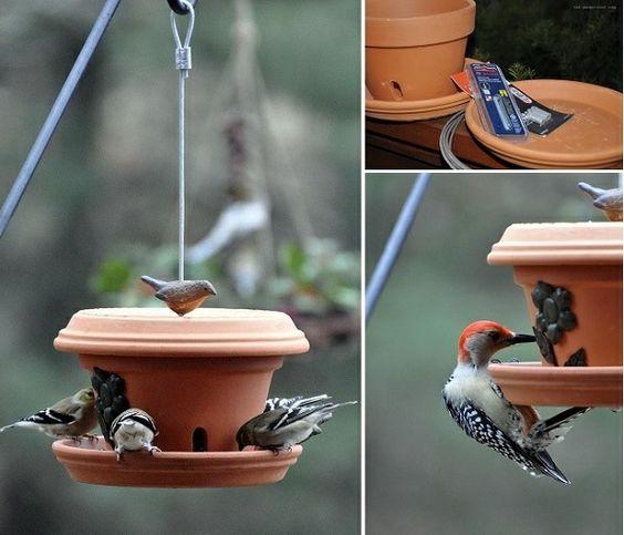 vogelfutterhaus bauplan vogelhaus untertassen ton