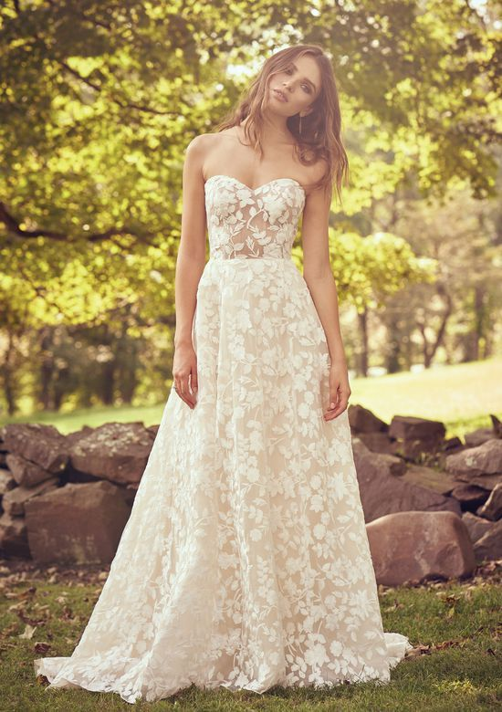 Style 66067 Sweetheart Gown With Cotton Lace Illusion Bodice