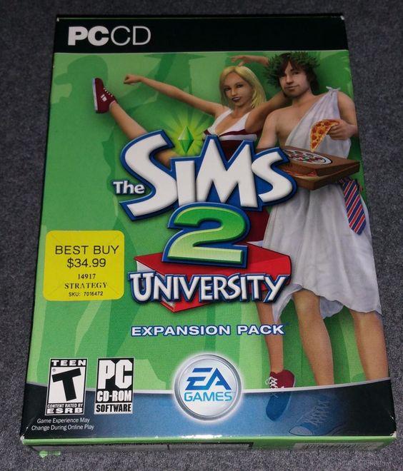 The Sims 2: University (PC, 2005) School Life Fraternity Sorority Study Party
