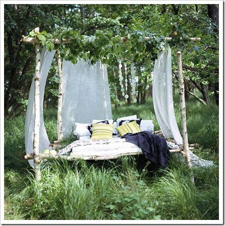 cama al aire libre decoración terraza outdoor terrace bed decoration miraquechulo