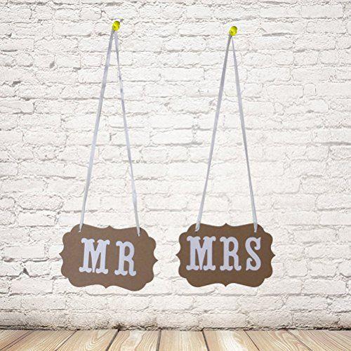 Tinksky coppia di Mr e Mrs foto puntelli sedia segni Decorazioni matrimonio