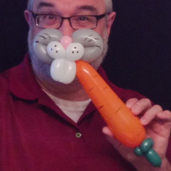 Bunny muzzle with a carrot.