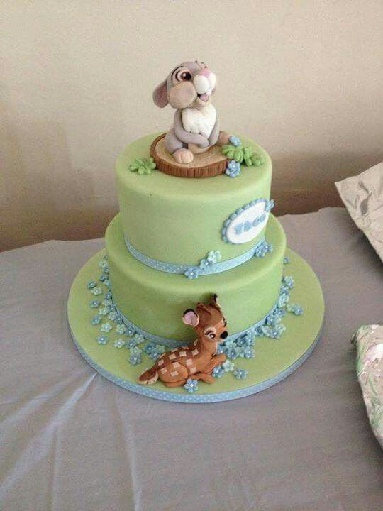Bambi Themed Cakethe Fondant Thumper And Bambi Are