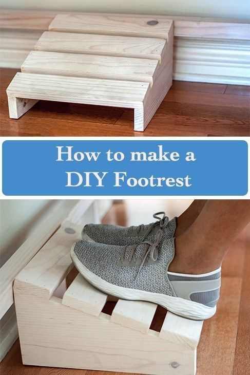 Easy Diy Footrest Using Scrap Wood Beginner Woodworking Projects