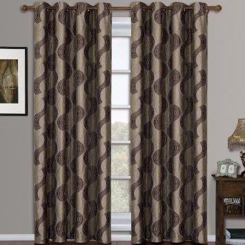 Amazon.com - Savanna Purple Grommet Jacquard Window Curtain Panels ...
