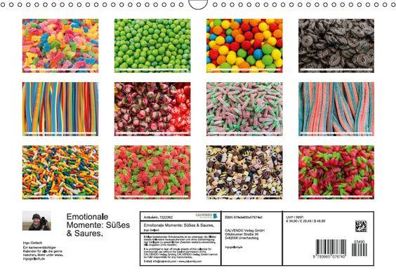 Süß, süßer am süßesten und dazu ein paar saures Drops und saure Gummibärchen. Ingo Gerlach hat einen farbenfrohen und kariesverdächtigen Kalender gestaltet. Freuen Sie sich auf diesen süßsauren Kalender. Die CALVENDO-Redaktion hat diesen Kalender fü