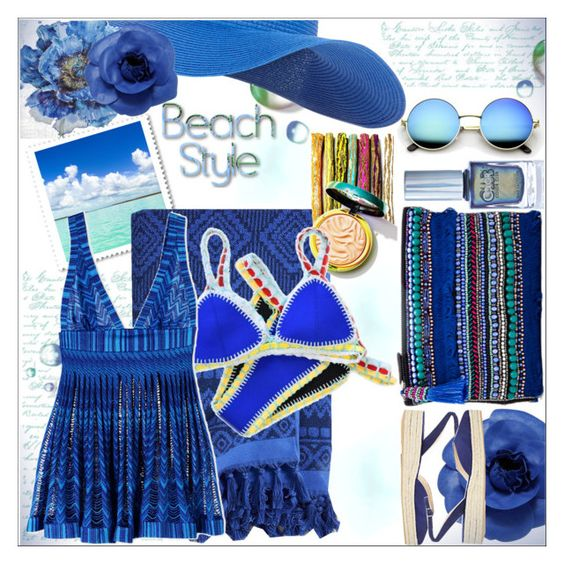 """""""Summer Date :The Beach"""" by dragananovcic on Polyvore featuring Accessorize, HueBreeze, Pier 1 Imports, Vera Bradley, Chanel, Color Club, Missoni Mare, Paul Andrew, contestentry and polyvoreeditorial"""