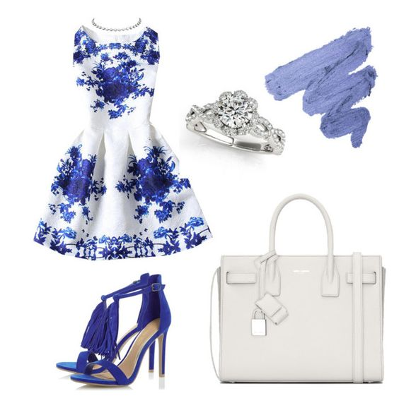 """Yummy Mummy"" by alexis-lisa-aswani on Polyvore featuring Rainbeam, Julius Cohen and Yves Saint Laurent"