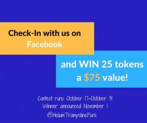 Check-in with us on Facebook and WIN 25 free tokens! Learn more...