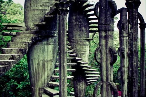 Las Pozas, près de Mexico, jardin de l'anglais Edward William Frank James