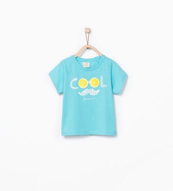 Image 2 of Organic cotton fruit print t-shirt from Zara
