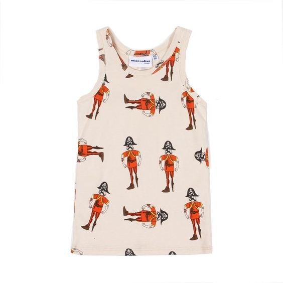 Mini Rodin Pirate Print Tank | Scandinavian Minimall