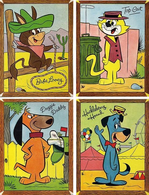 Baba Looey, Top Cat, Doggy Daddy and Huckleberry Hound and vintage Cartoons:
