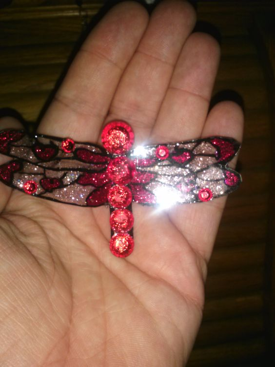 Red dragonfly barette for sale
