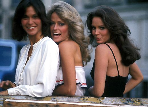 Charlie's Angels- Kate Jackson, Farrah Fawcett, and Jaclyn Smith. 1976