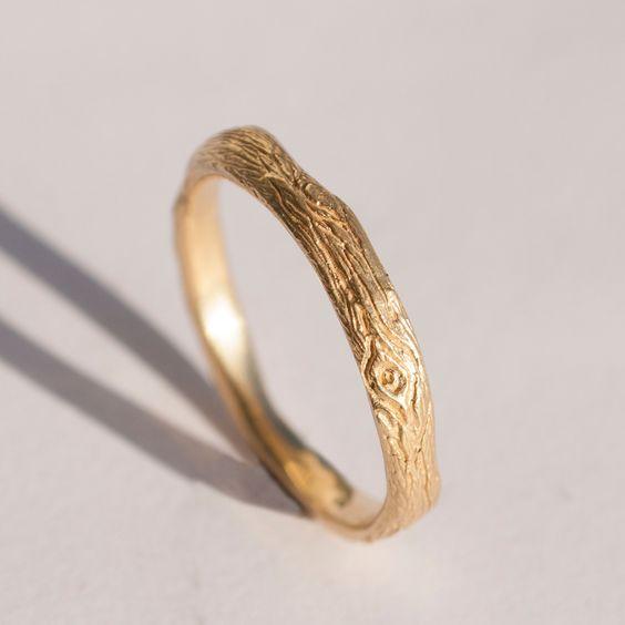 I LOVE this!  Twig Ring no.2  14K Gold Ring unisex ring wedding by doronmerav, $350.00