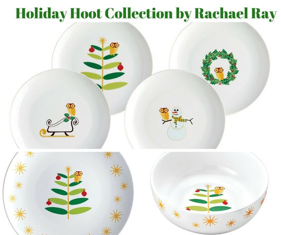 Holiday Hoot Dinnerware Collection by Rachel Ray