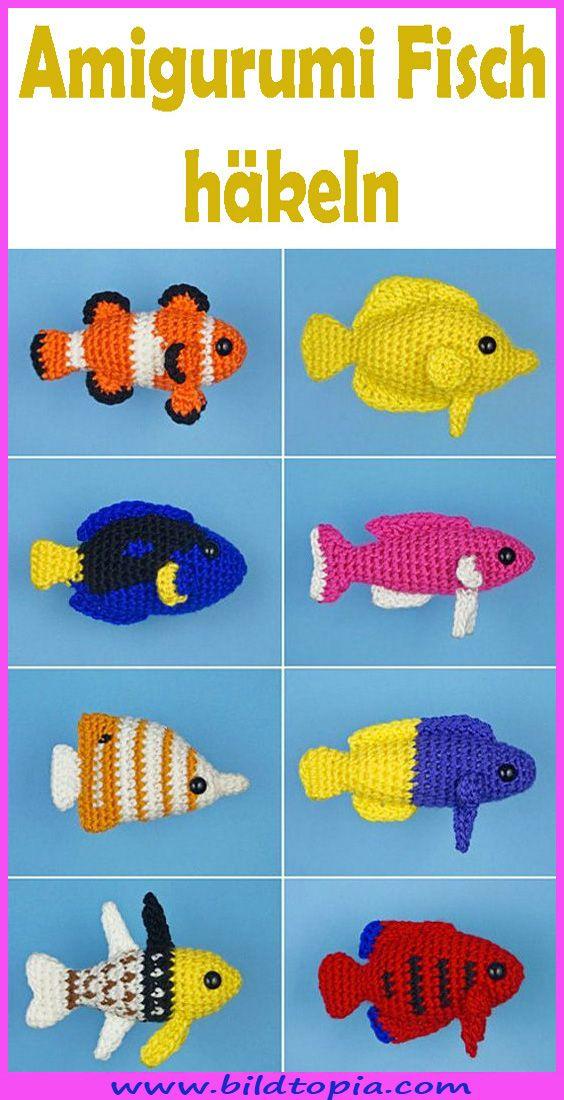 Gratisanleitung: Häkelanleitung für Babyfisch - YouTube | 1100x564