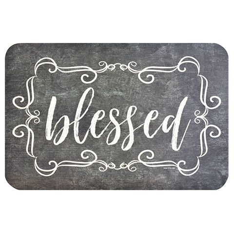 Bulk Blessed Plastic Placemats At Dollartree Com Diy Placemats Placemats Dollar Tree Crafts
