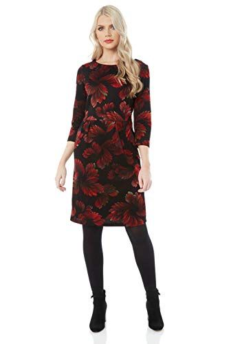 Roman Originals Women Floral Ponte Dress