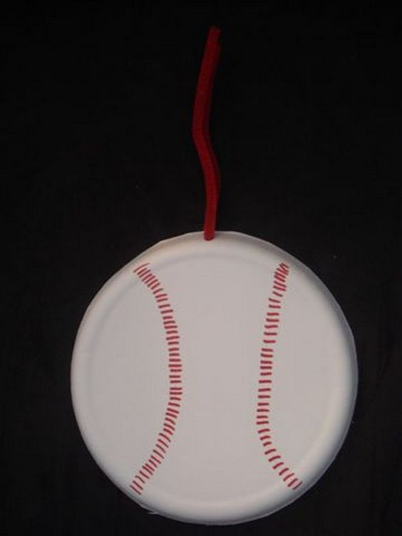 Sport craft crafts for kids and sports on pinterest for Paper plate crafts for adults