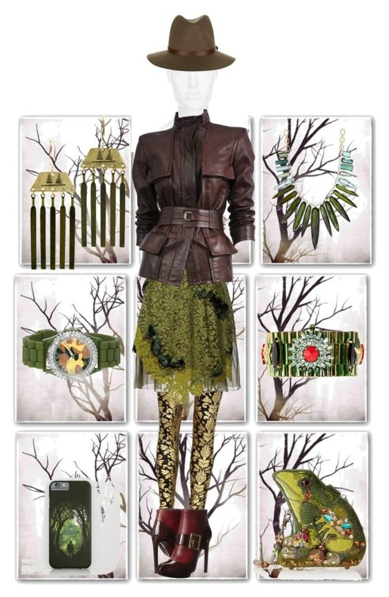 """""""Into The Woods"""" by christinamay1111 ❤ liked on Polyvore featuring PTM Images, rag & bone, Alberta Ferretti, Alexander McQueen, Tom Ford, Mary Frances Accessories, Irene Neuwirth, Iosselliani, Golden Classic and AK Vintage"""