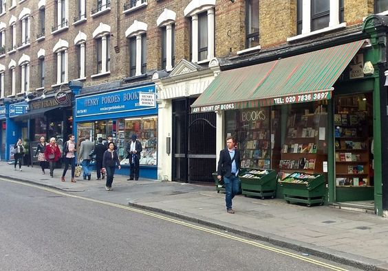 A Literary Spot In London That Every Book Lover Needs To Visit  - by: Arianna Rebolini - The Bookshops of Charing Cross Road - It is a book lover's mecca for its secondhand and independent bookshops. Quinto & Francis Edwards (72 Charing Cross Road) offers an eclectic selection of rare and antique books on its ground floor, and a more general (and often pulpy) inventory in the basement that is completely restocked every month.