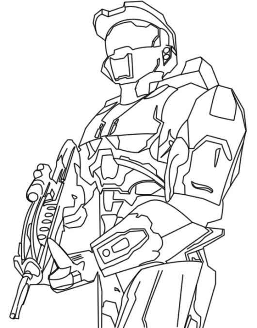 Halo Wars Coloring And Sketch Sheet Halo Drawings Coloring Pages Anime Character Drawing