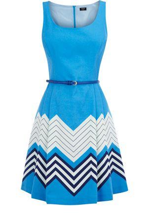 Bright blue chevron stripe dress.  Great color!