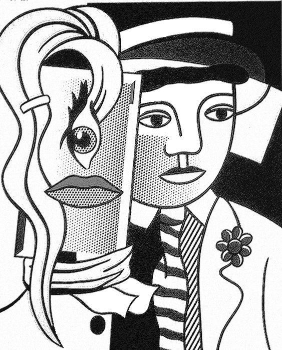 Stepping Out (sortir, clin d'oeil à F Léger), Roy Lichtenstein.