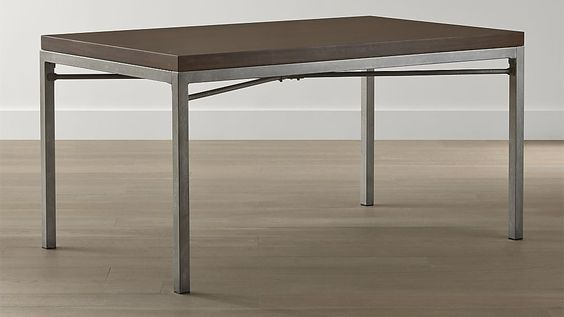 Myrtle Top/ Zinc X-Base Dining Tables   Crate and Barrel  Dining Room